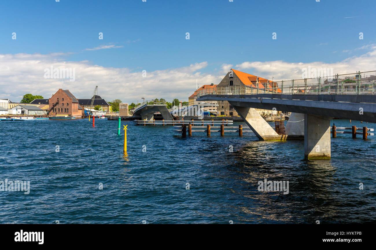 Unfinished Inner Harbor Bridge in Copenhagen - Stock Image