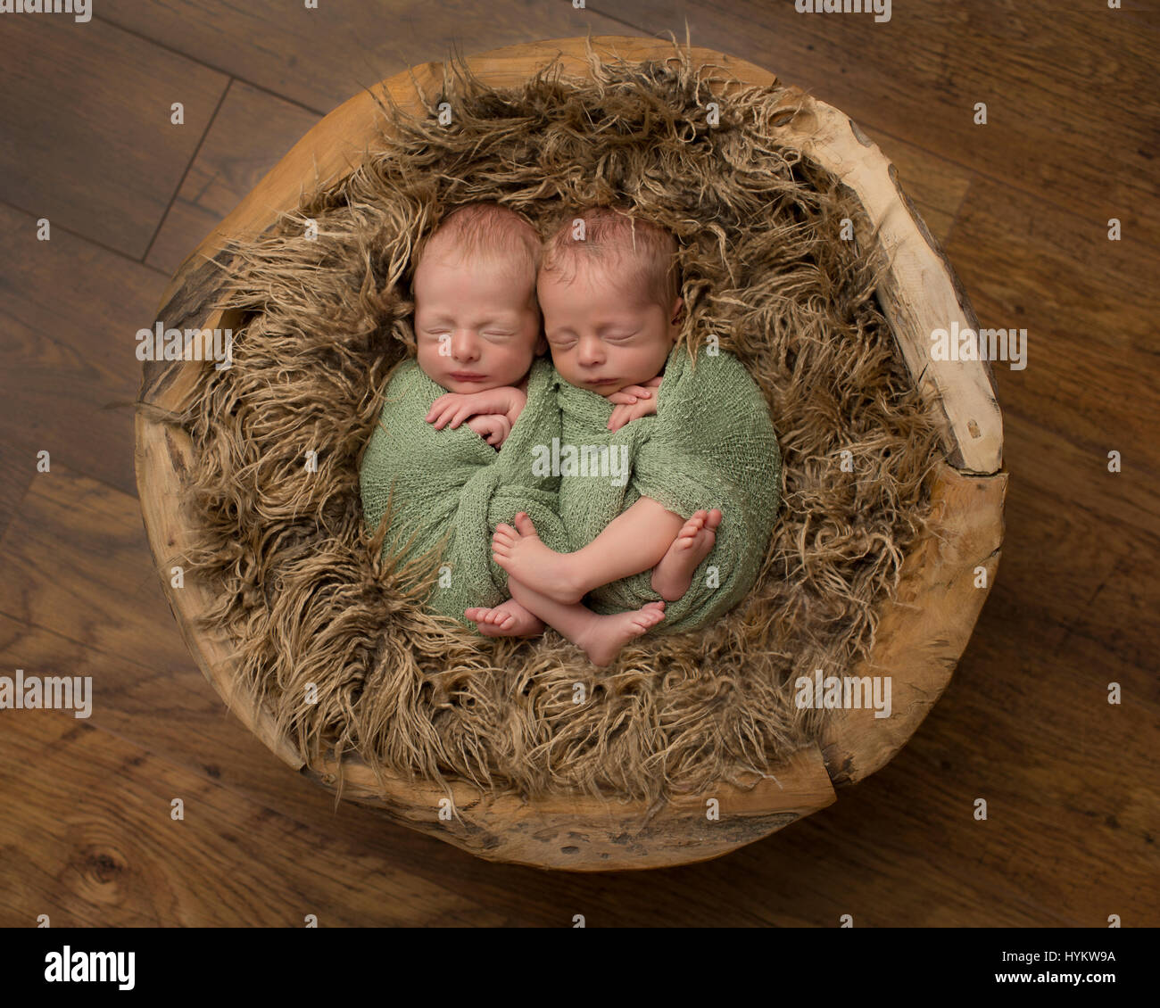 TWIN NEWBORNS makes the cute factor double as shown in these heart-melting shots of the parent SNAP. Pictures show - Stock Image