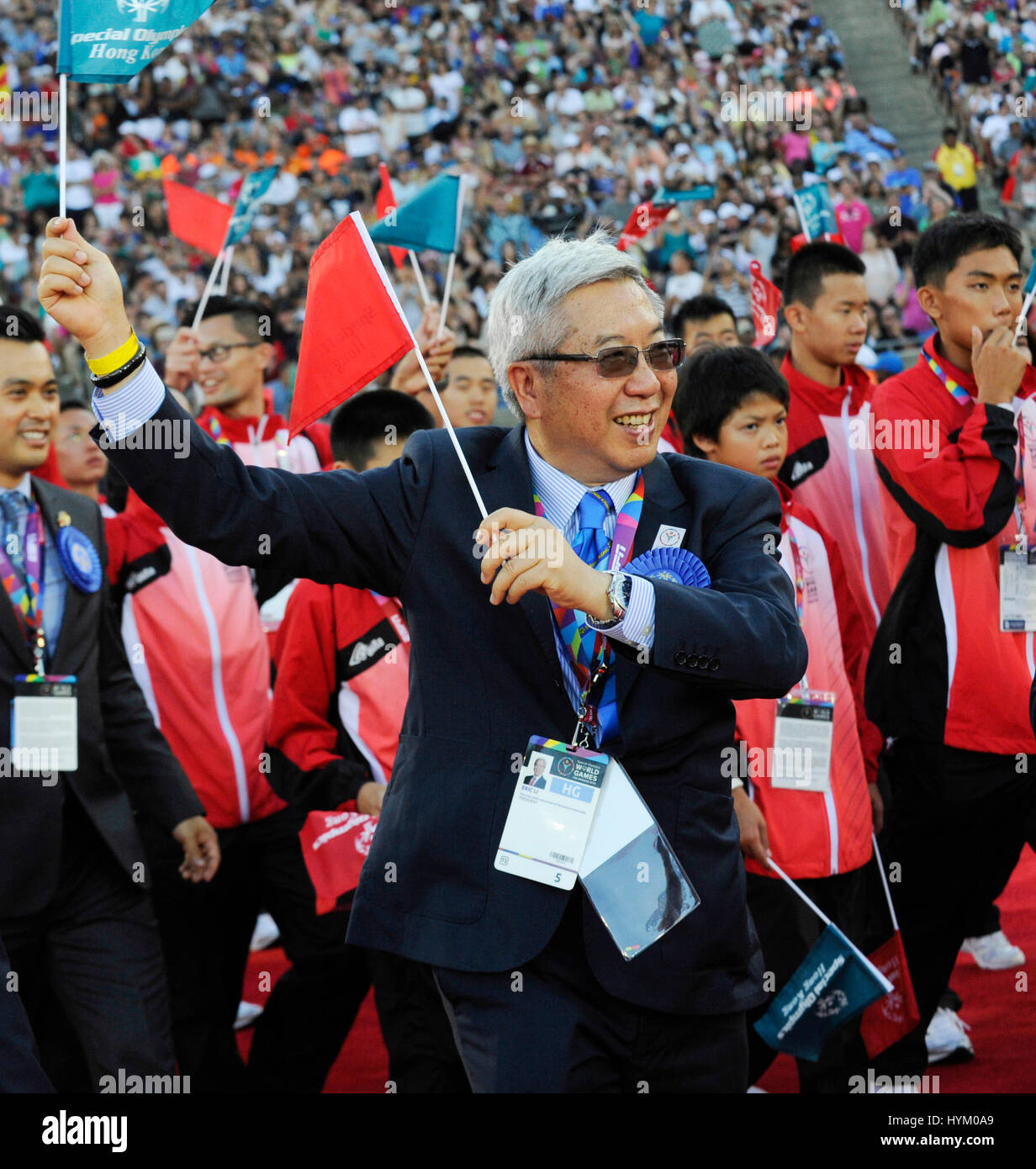 Arrivals at the Special Olympics World Games Opening Ceremony at the Coliseum on July 25th, 2015 in Los Angeles, - Stock Image