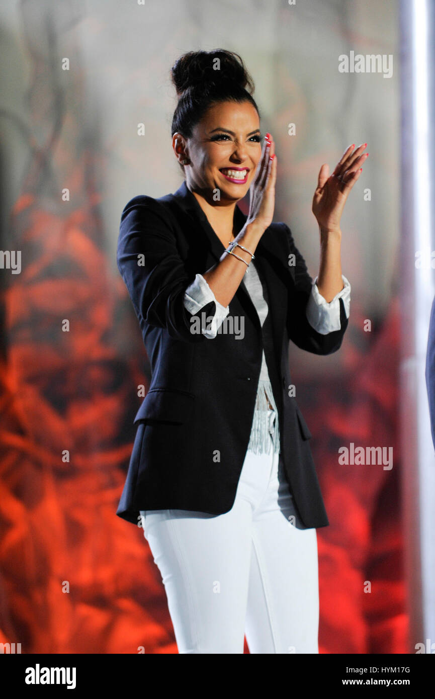 Eva Longoria on the Flag Stage at the Special Olympics World Games Opening Ceremony at the Coliseum on July 25th, - Stock Image