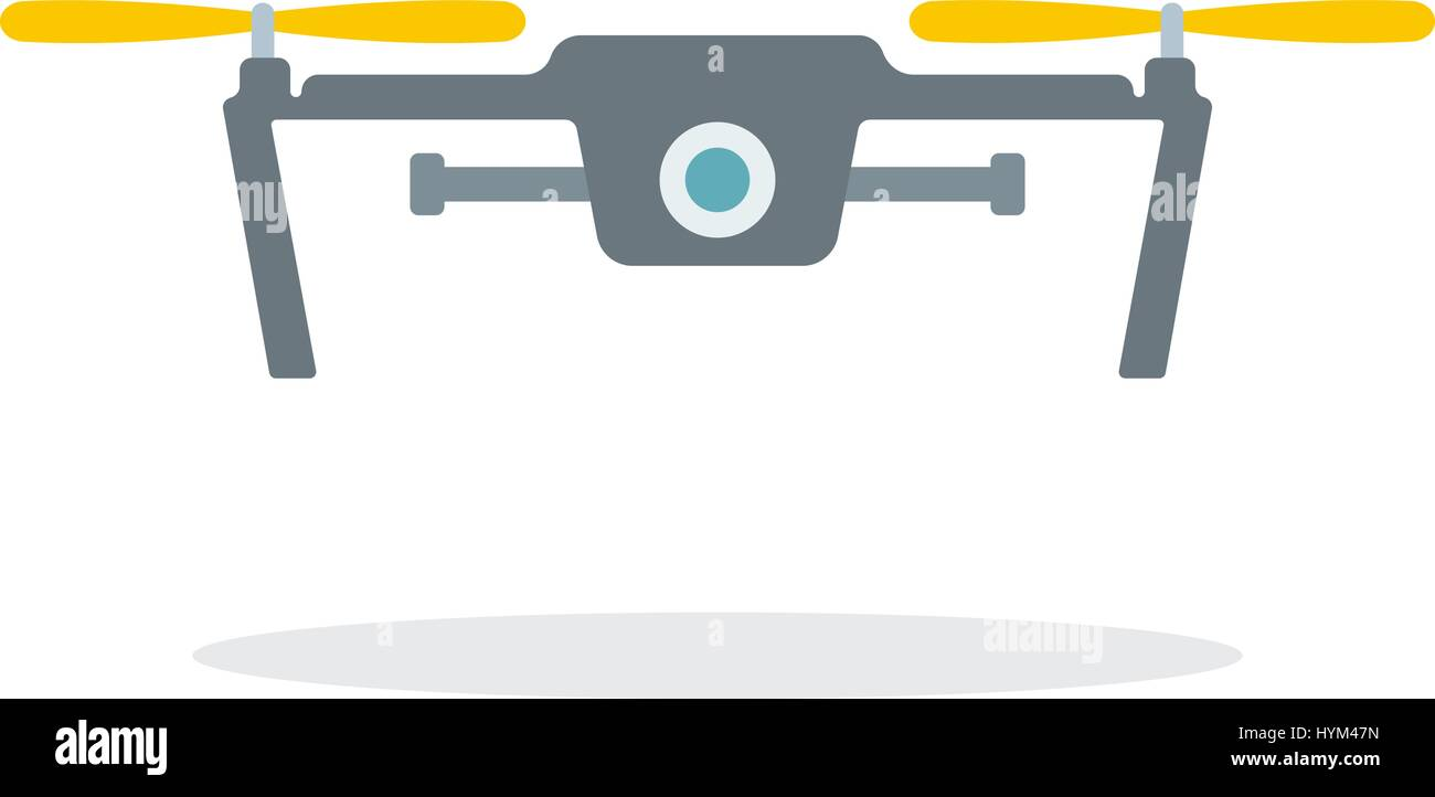 Dron with camera - Stock Vector