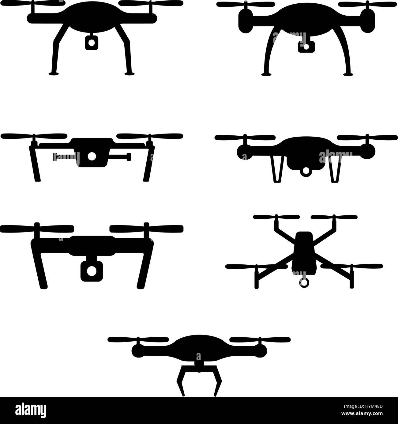 Set of drones - Stock Vector