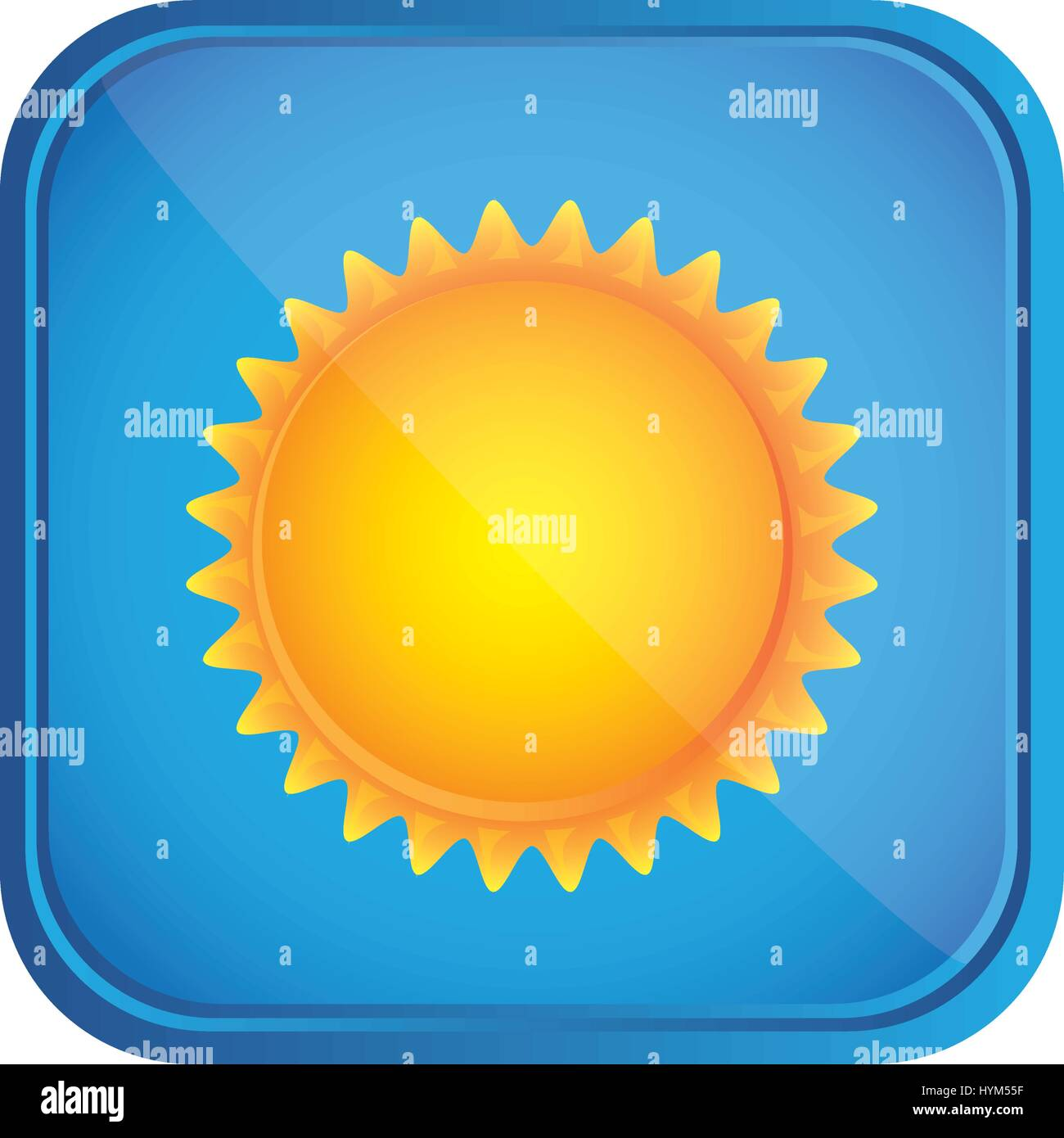 beautiful sunny day button icon - Stock Vector