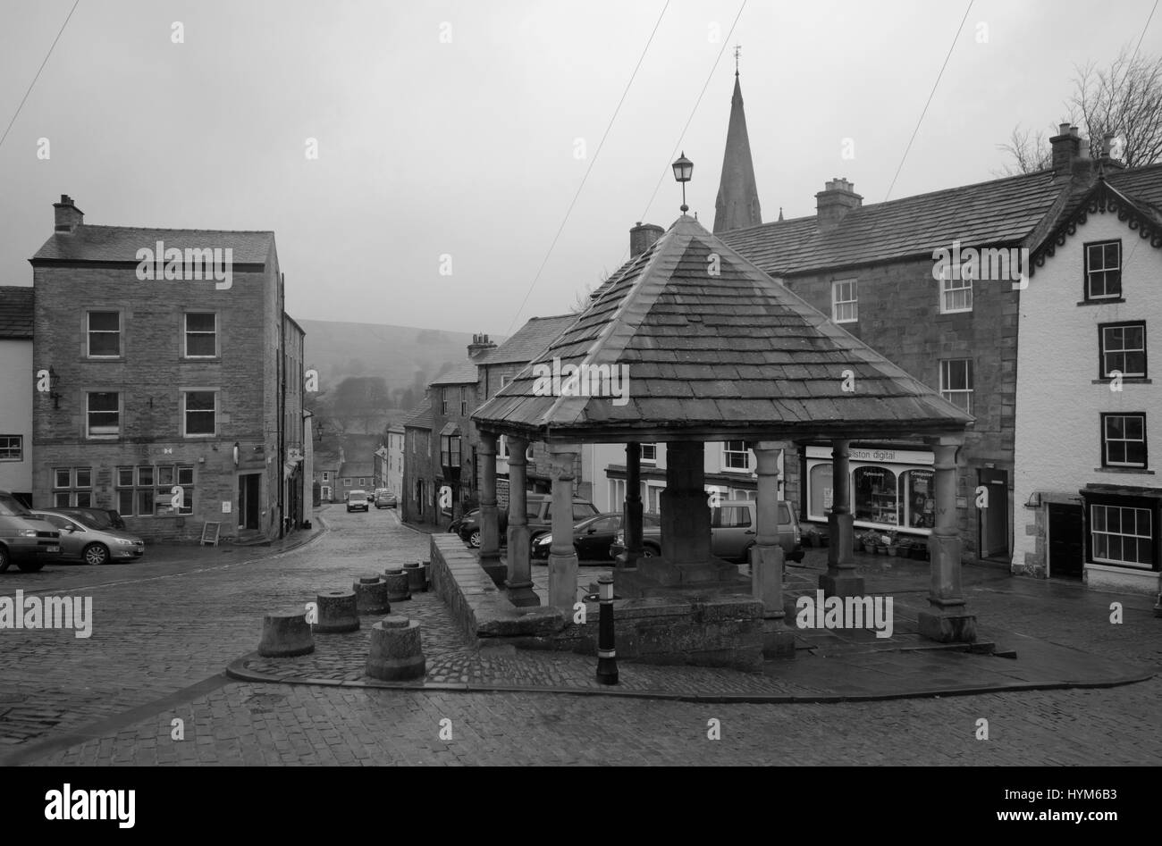 Alston town centre - Stock Image