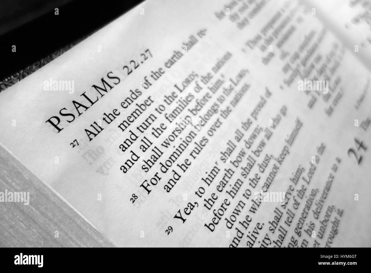 Bible Psalms Stock Photos & Bible Psalms Stock Images - Alamy