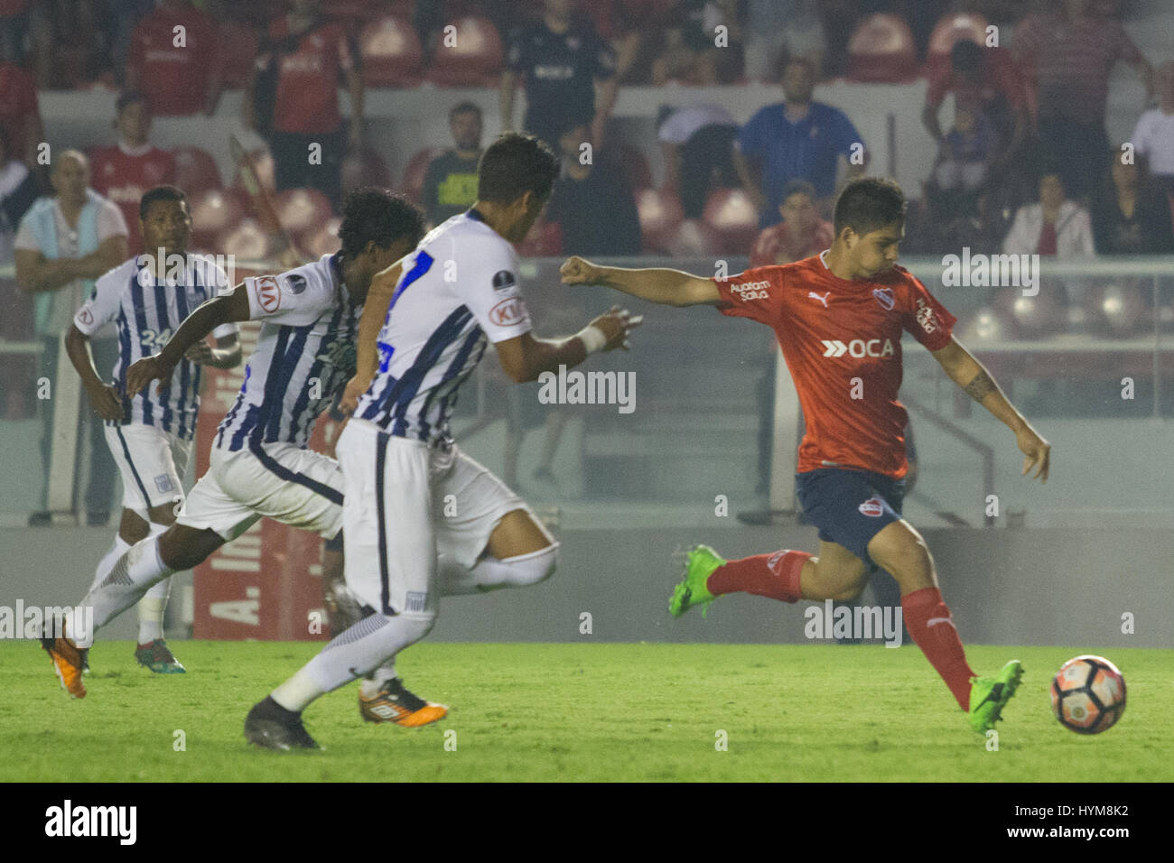 BUENOS AIRES, 04.04.2017:  Martin Benitez, forward of Independiente during match between Independiente (ARG) and - Stock Image