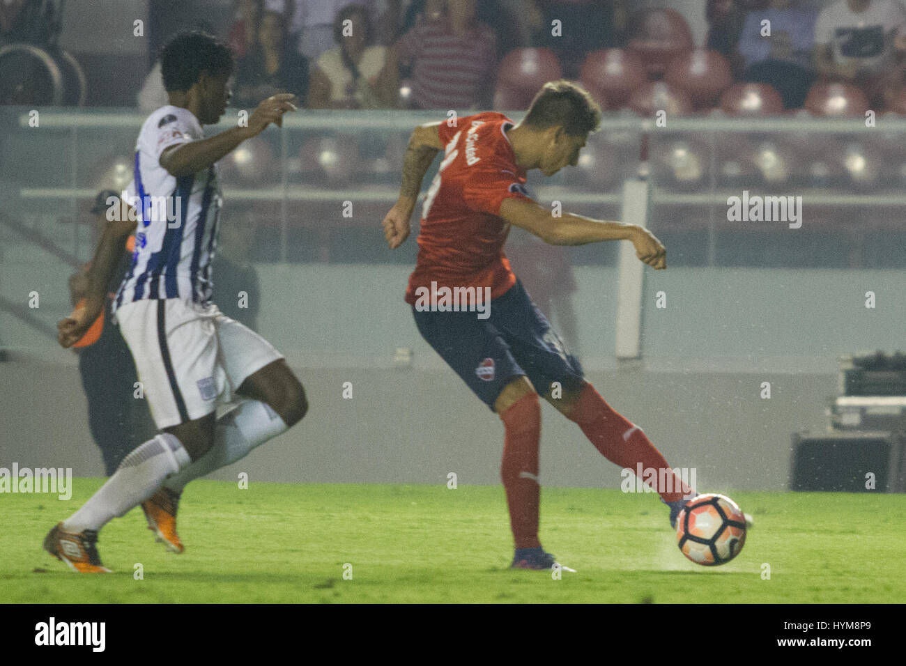 BUENOS AIRES, 04.04.2017:  Emliano Rigoni, forward of Independiente during match between Independiente (ARG) and - Stock Image