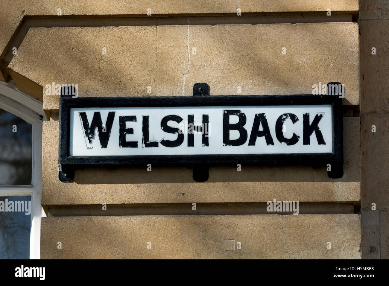 Welsh Back street sign, Bristol, UK - Stock Image