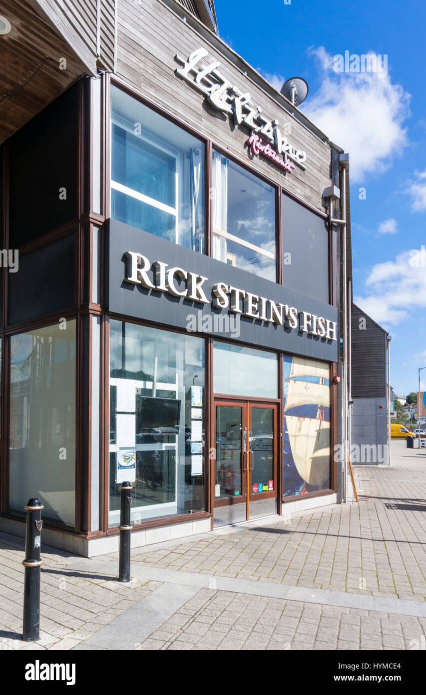 Falmouth Cornwall  restaurant called Rick Stein's Fish cornwall rick stein owner Falmouth Harbour Cornwall west - Stock Image
