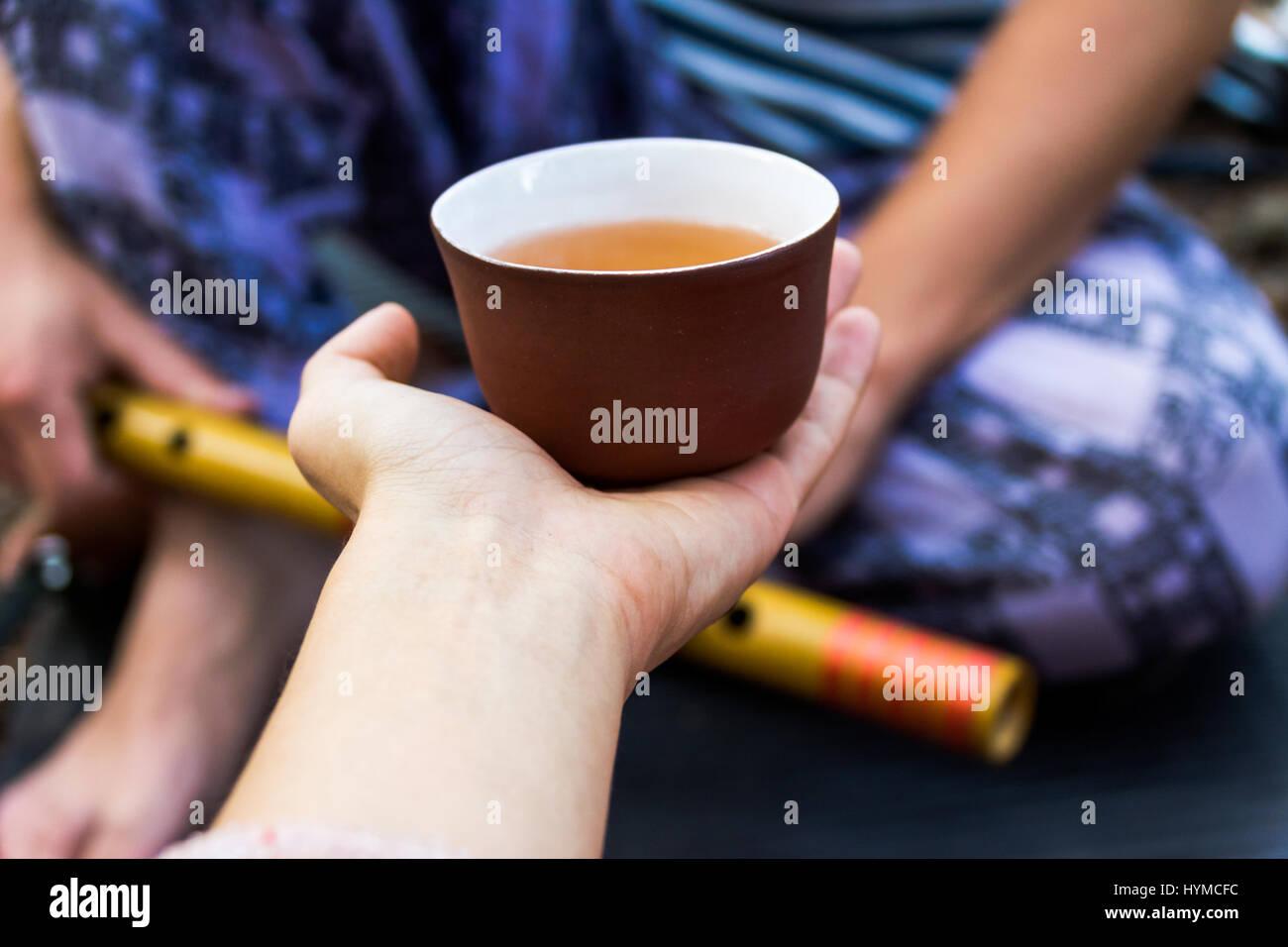 Tea for musician - Stock Image