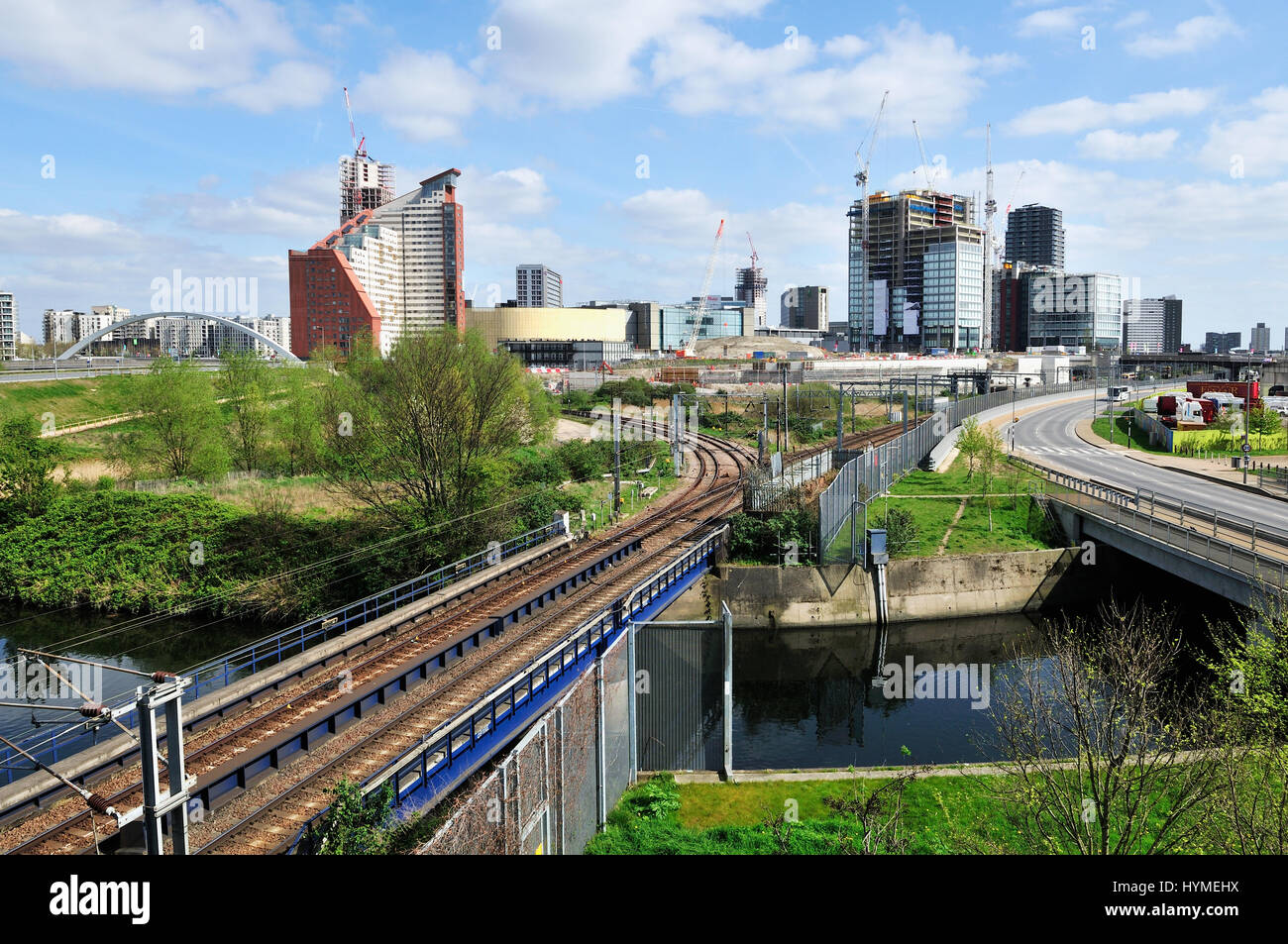 Stratford, East London UK, looking East towards the centre - Stock Image