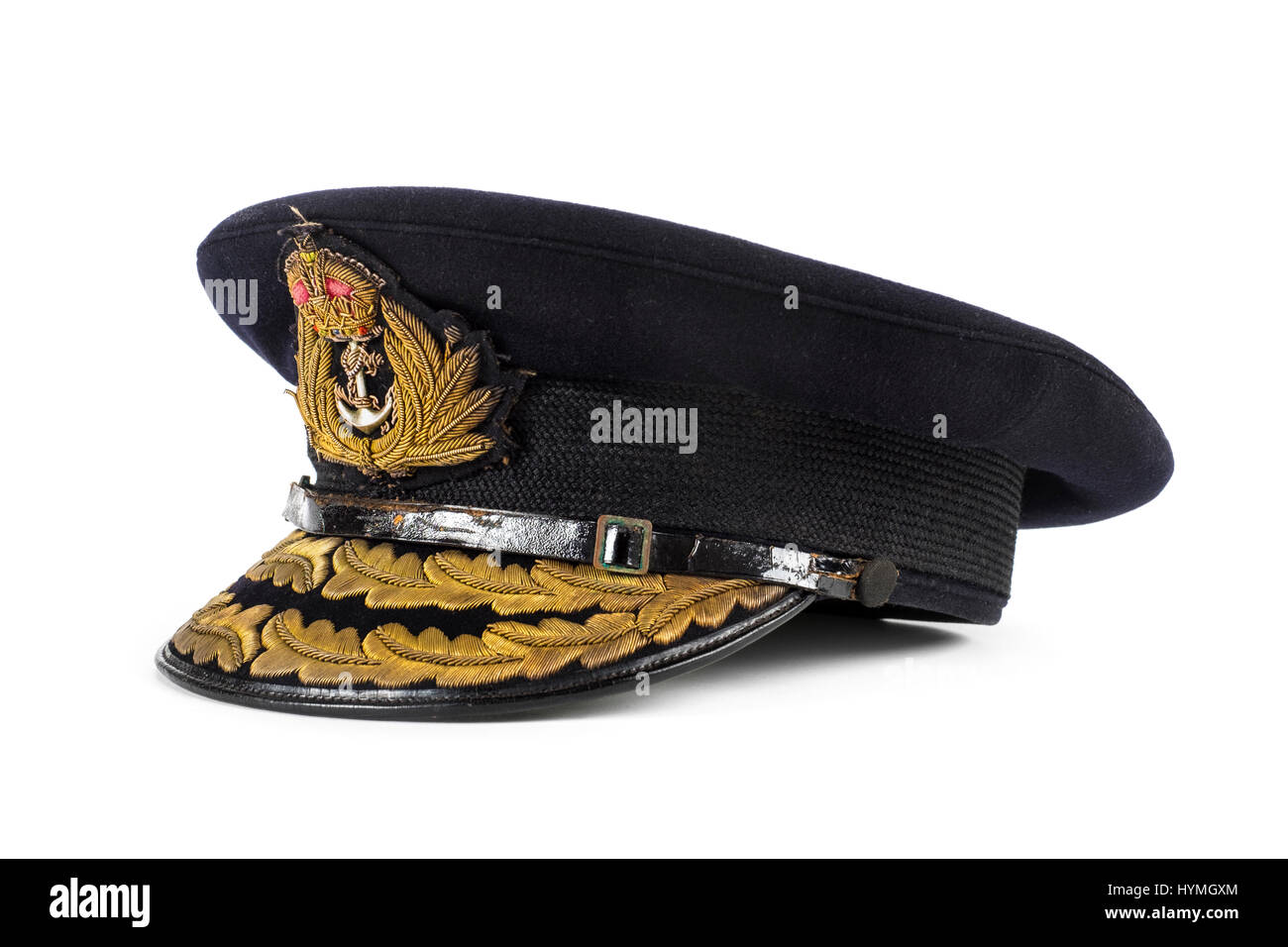 WW2 Royal Navy cap inscribed to Admiral Bertram Ramsey who will be best remembered  for leading the Dunkirk evacuation Stock Photo