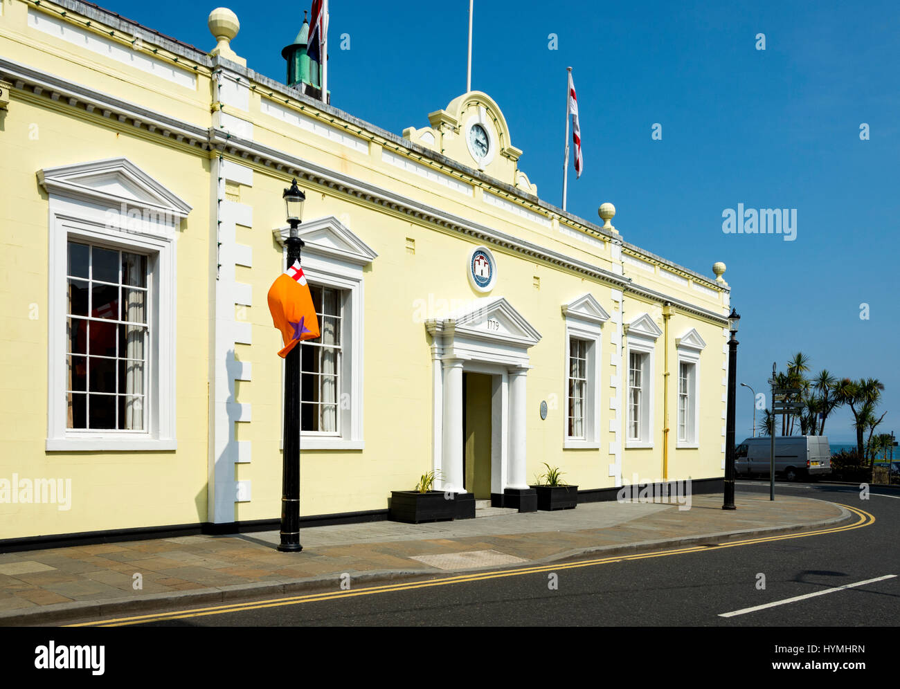The Town Hall, built 1779, originally the courthouse and gaol, Carrickfergus, County Antrim, Northern Ireland, UK Stock Photo