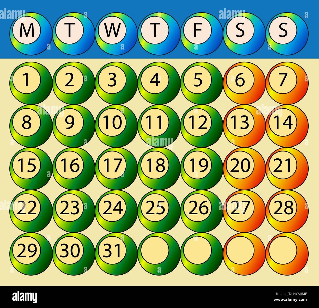 Week Calendar Days