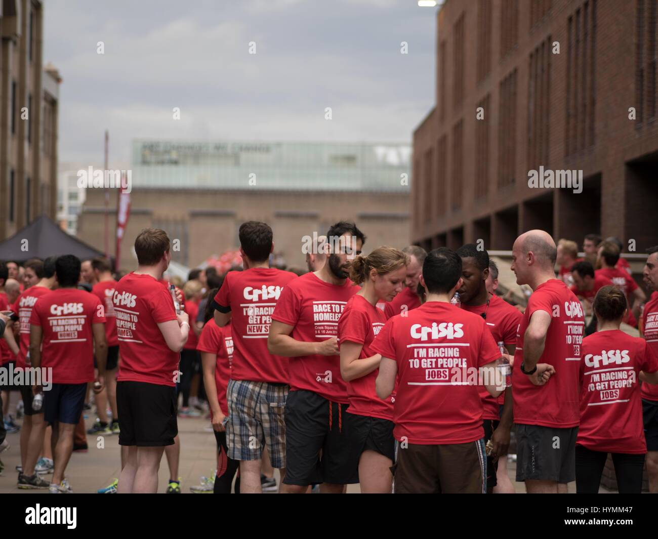 Crisis Square Mile Run 2016, Relay and Campaign to end homelessness, London, United Kingdom - Stock Image