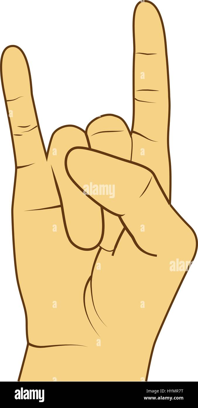 Hand Rock Star Symbol Icon Stock Photos Hand Rock Star Symbol Icon