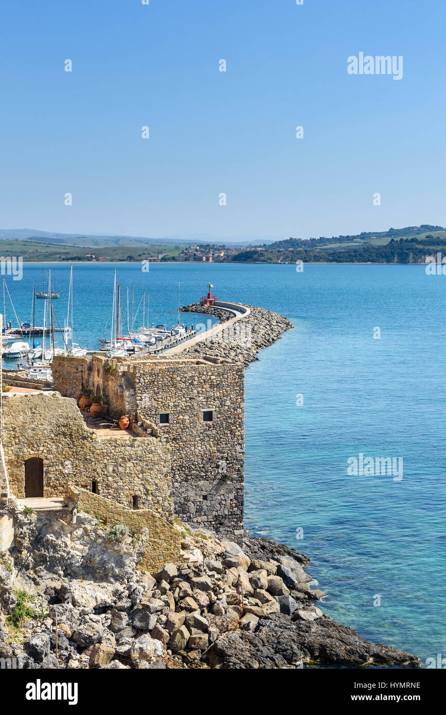 italian destination Talamone, Grosseto province, tuscany, italy - Stock Image