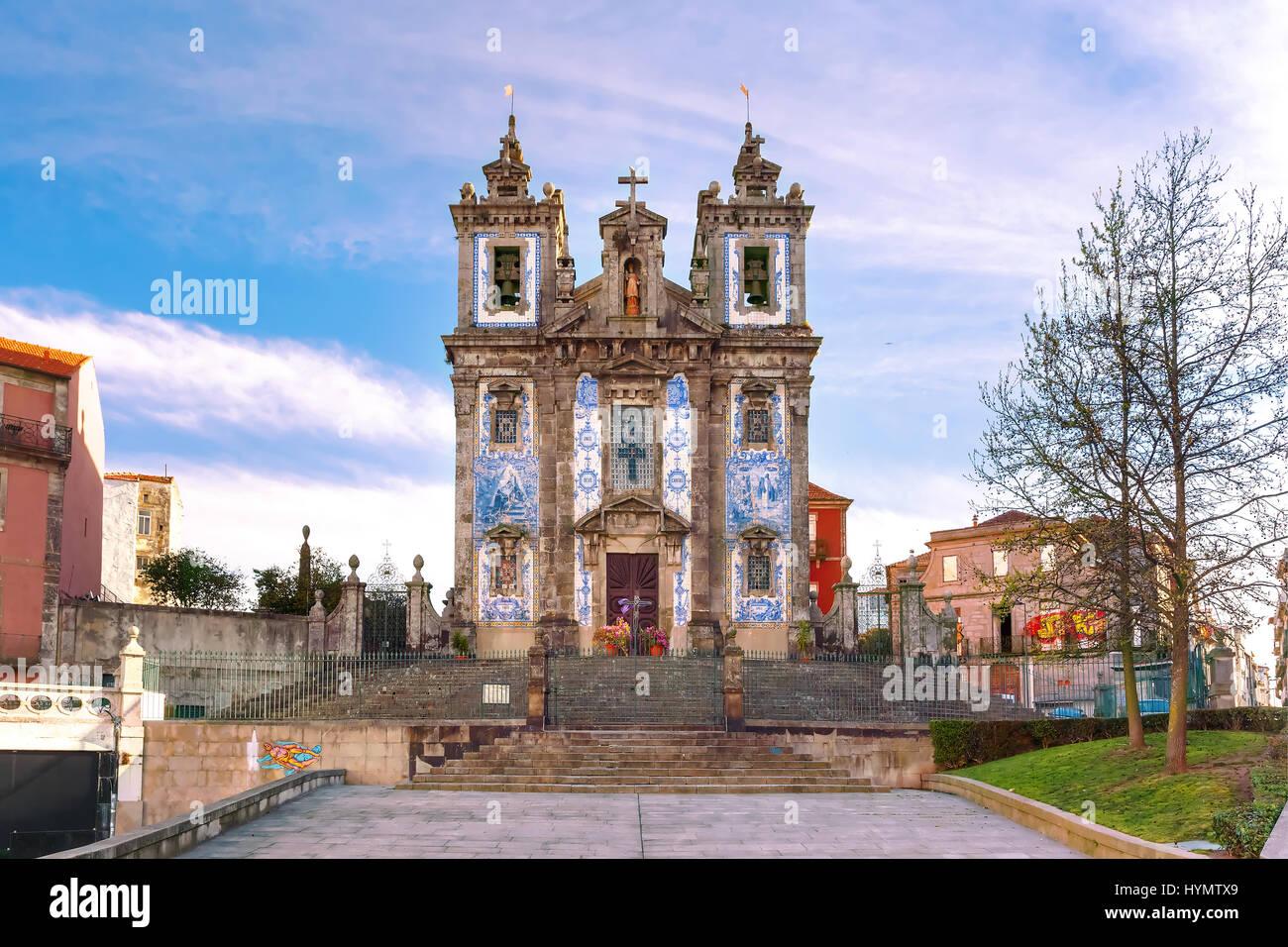 Church Igreja de Santo Ildefonso, Porto, Portugal - Stock Image