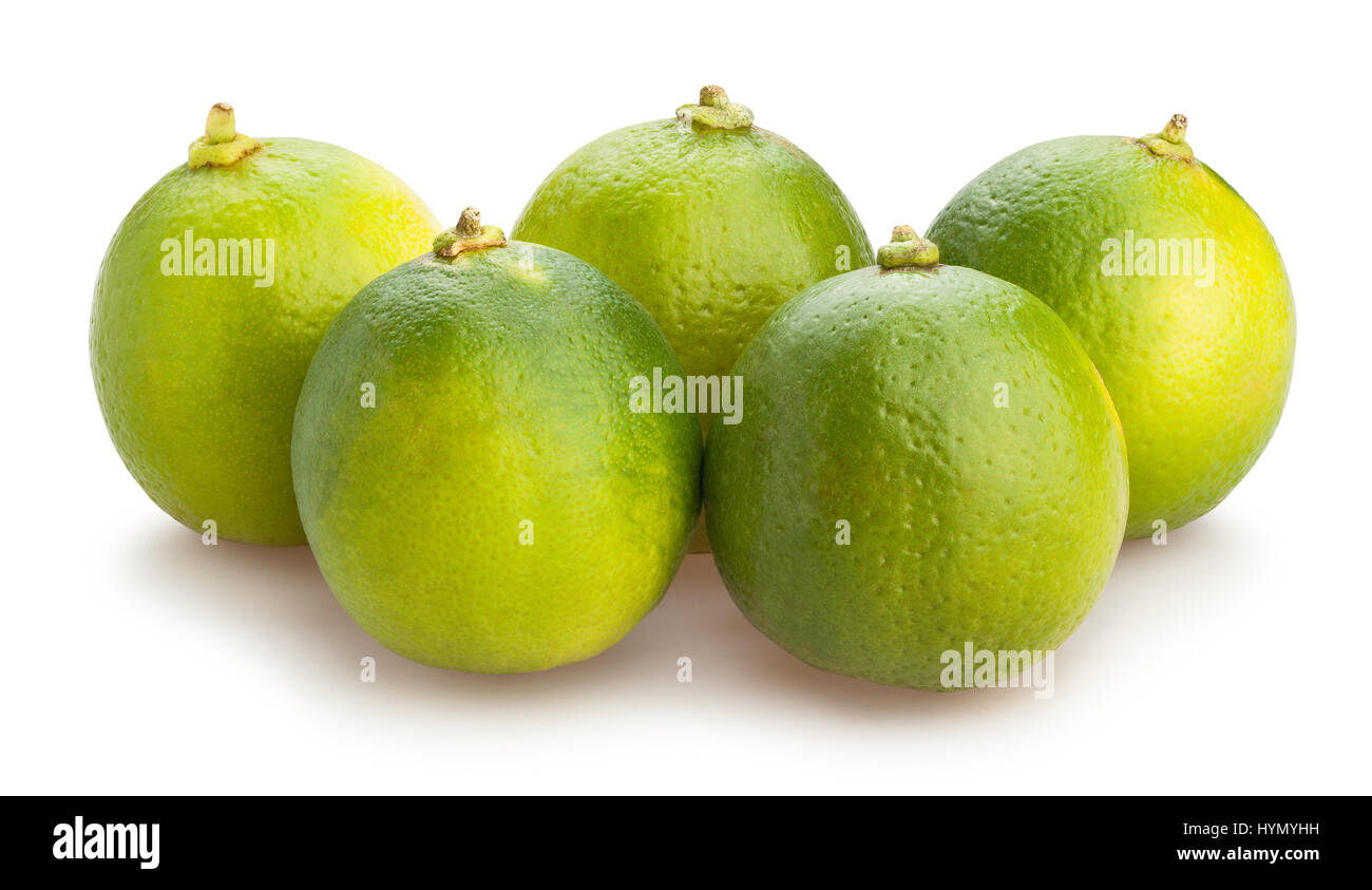 lime isolated - Stock Image