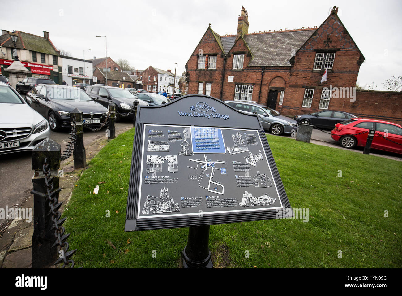 West Derby - a  suburb in the north of Liverpool, Merseyside, England. - Stock Image