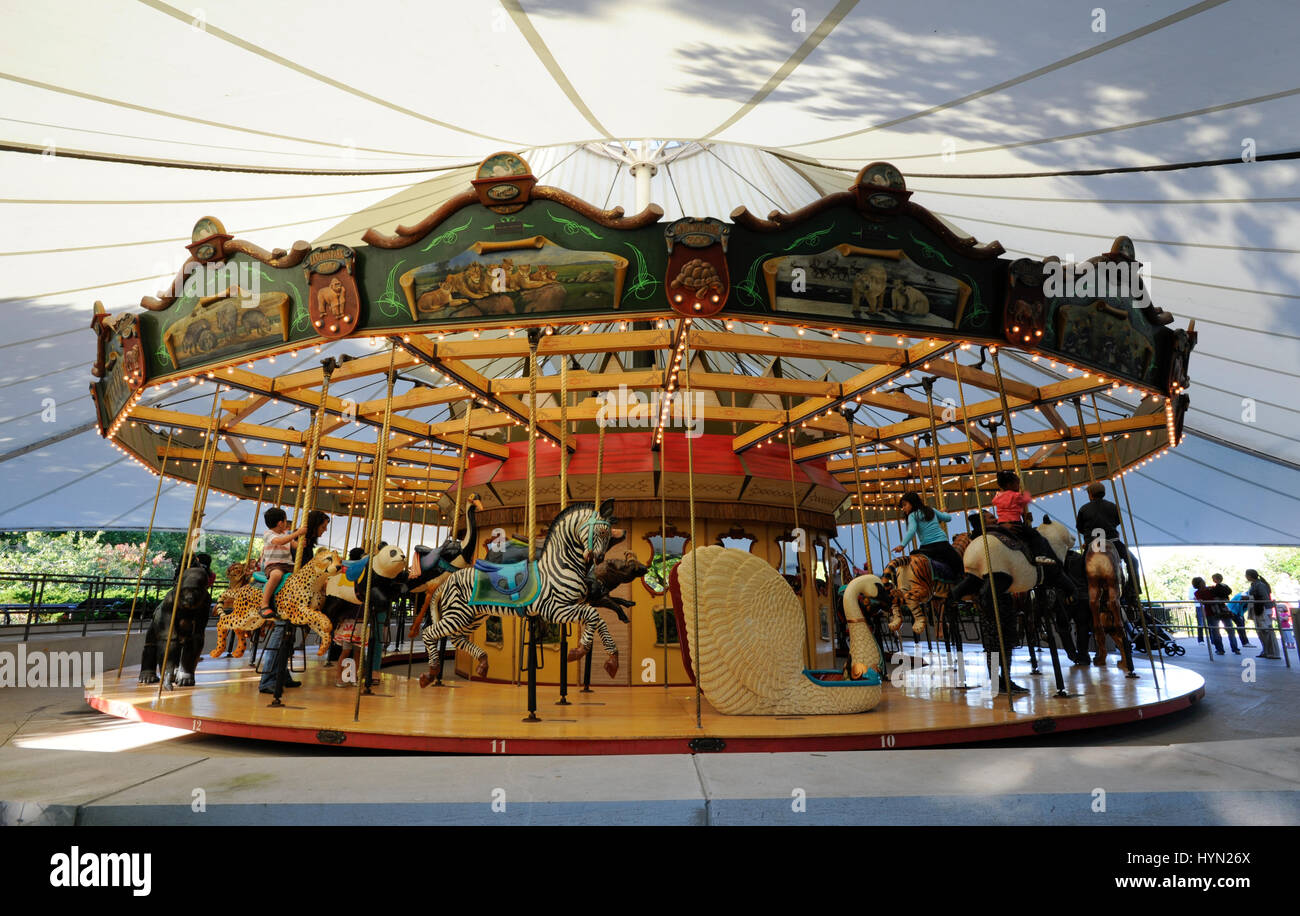 Merry-Go-Round Carousel at the Lincoln Park Zoo, Chicago, Illinois