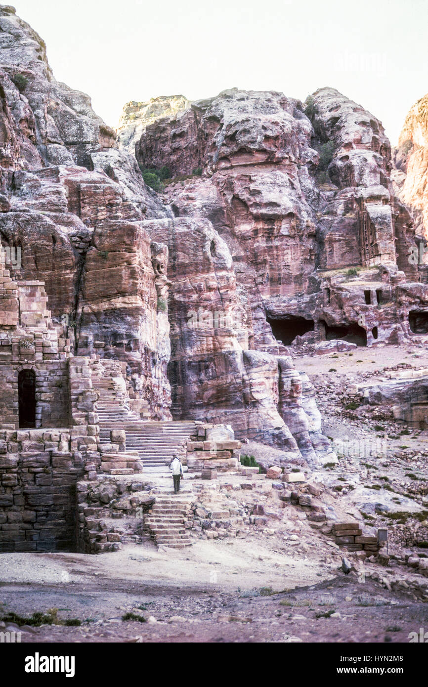 Petra originally known to the Nabataeans as Raqmu, is a historical and archaeological city in southern Jordan. TheStock Photo