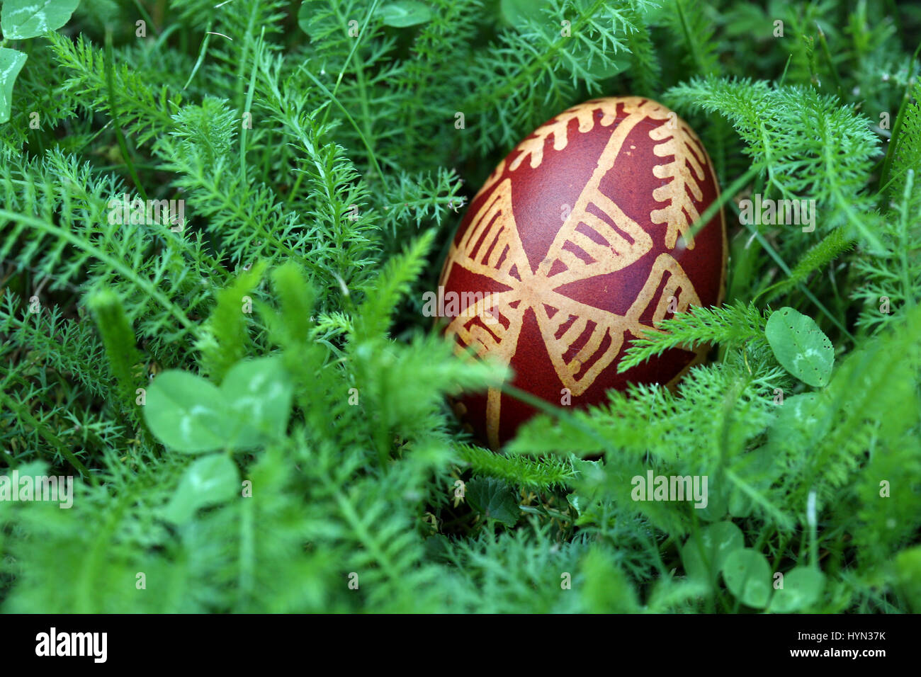 Croatian Easter Egg Made With Traditional Decorating Techniques