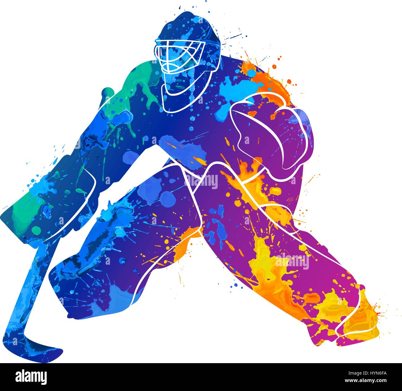 Hockey Goalie Mask Icon Cartoon Stock Photos Hockey Goalie Mask