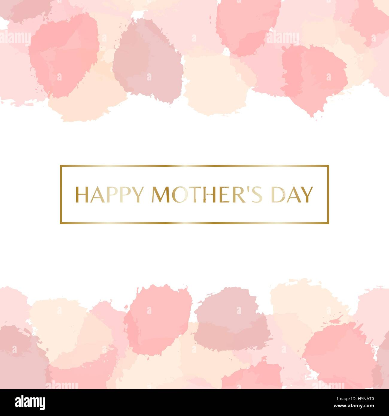 Mothers day greeting card design with gold letters message and mothers day greeting card design with gold letters message and pastel pink watercolor brush strokes in the background m4hsunfo