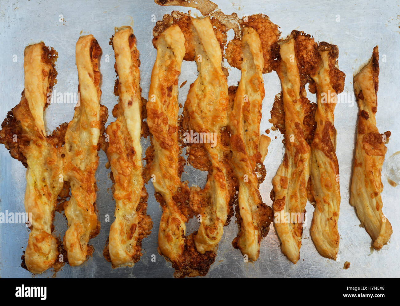 Homemade cheese straws - Stock Image