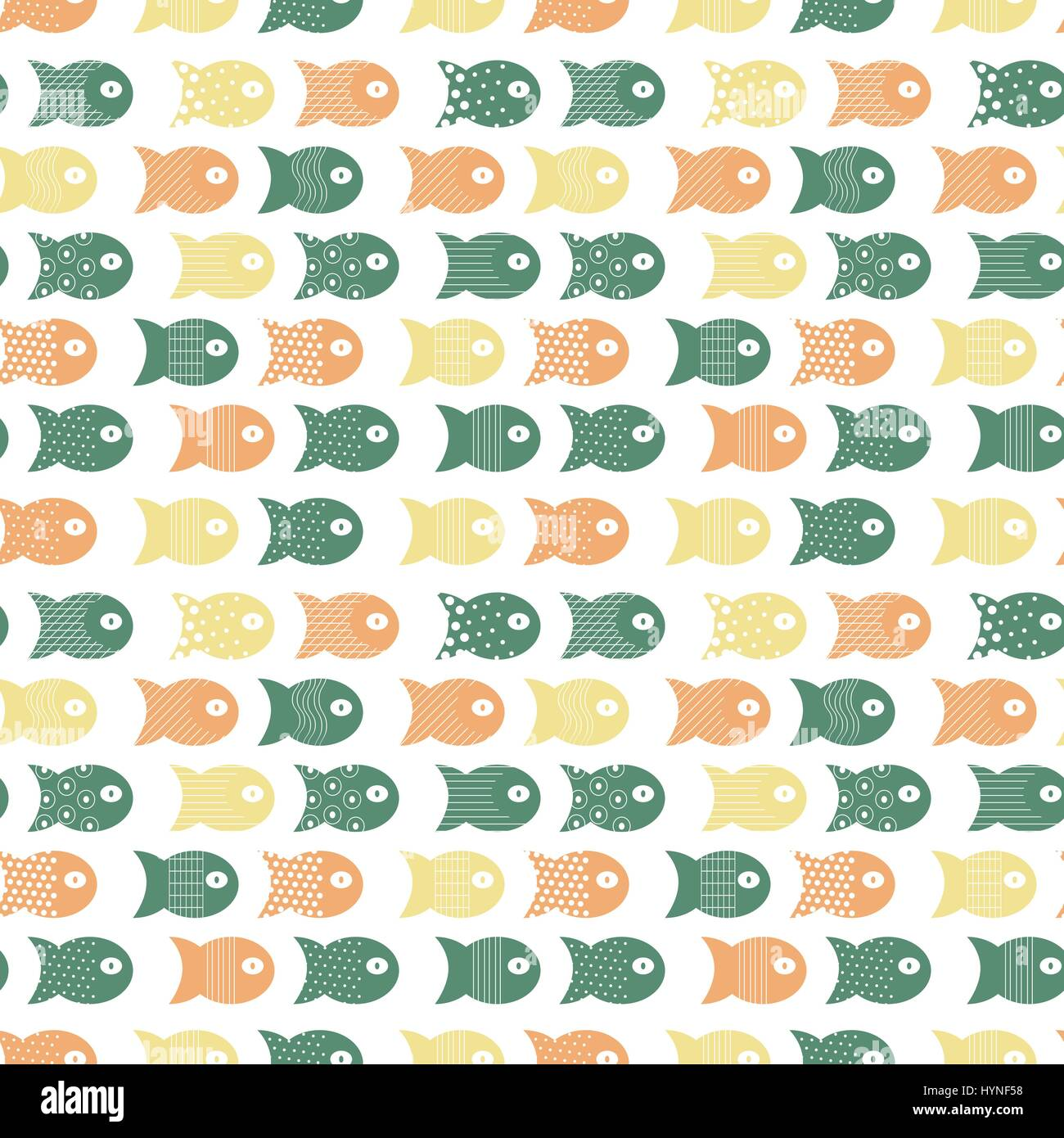 Fish seamless pattern for fabric textile design, pillows, wallpapers,cloth,bags,scrapbook paper. - Stock Vector
