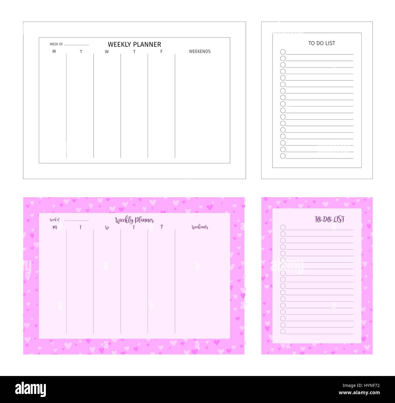 temlape for print. weekly planner and to do list. patterned frame