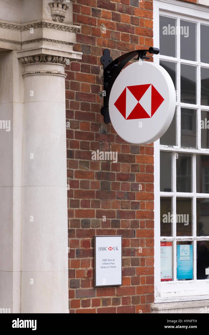 HSBC bank at Henley on Thames, Oxforshire - Stock Image
