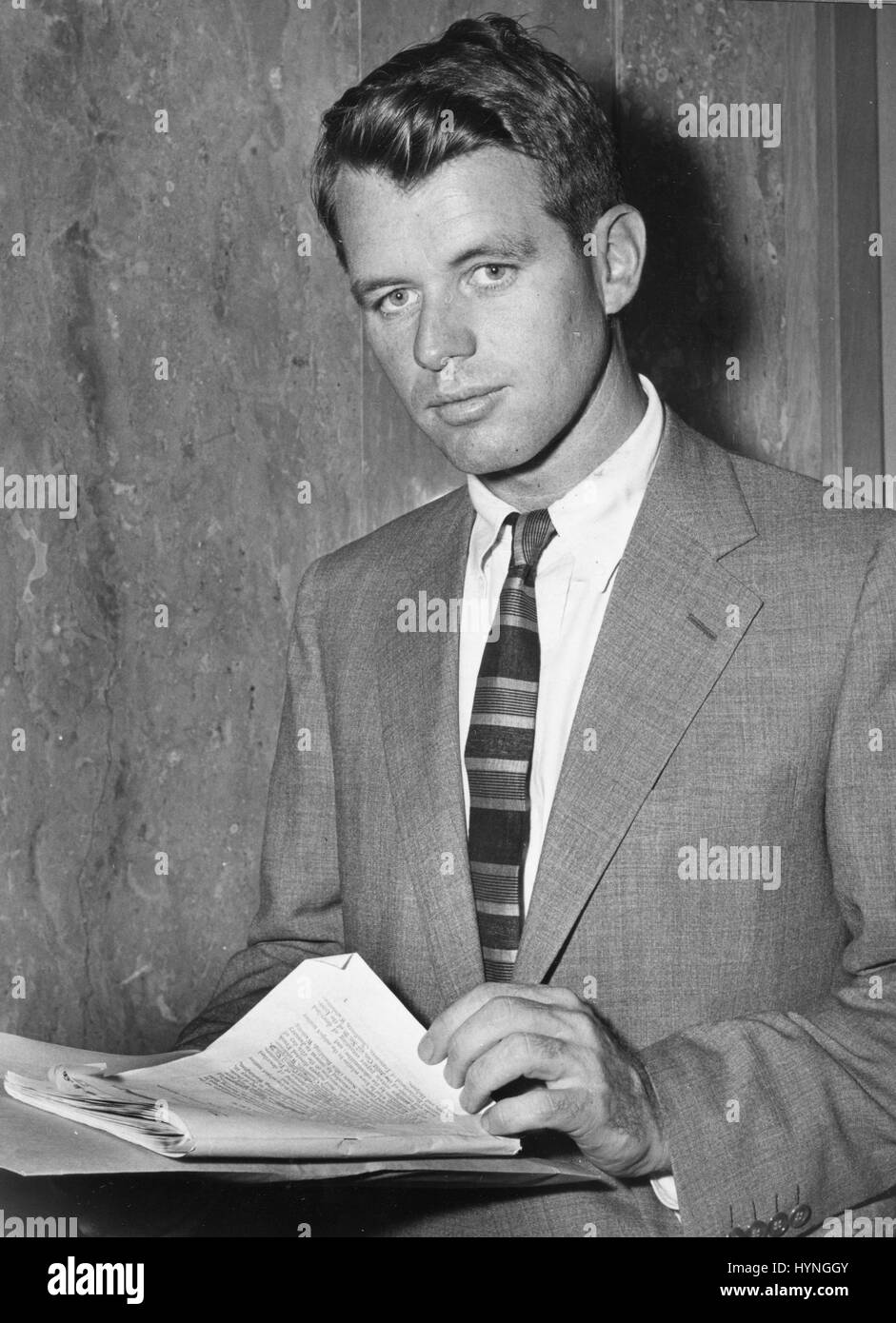 Robert Kennedy, Senate Rackets Committee Counsel as he appeared at the District Court as the Government's witness - Stock Image