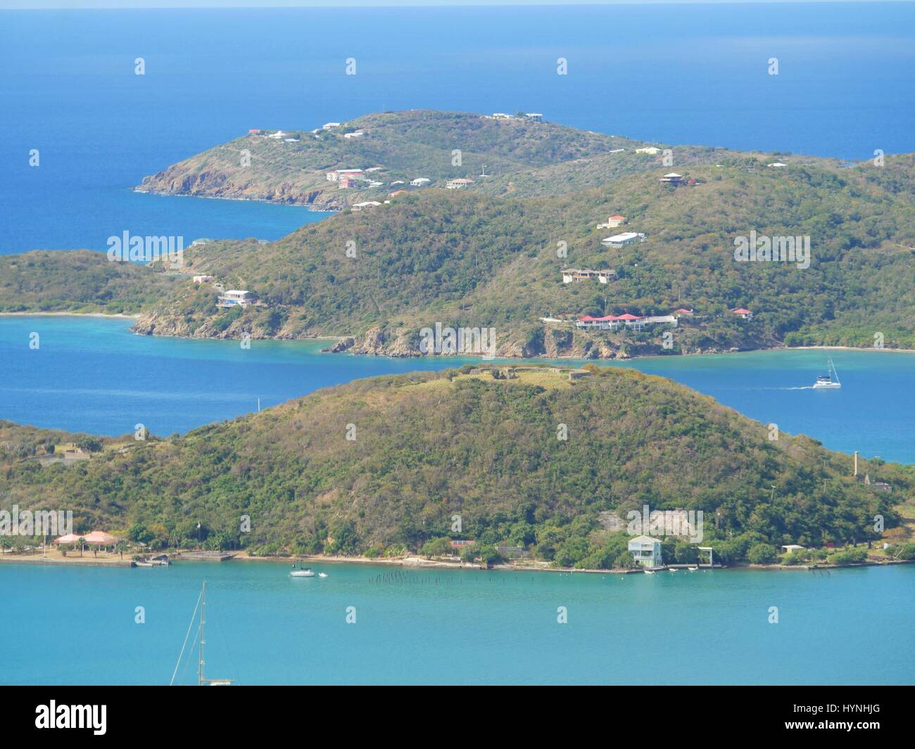 Islands facing Charlotte Amalie, St. Thomas Stock Photo