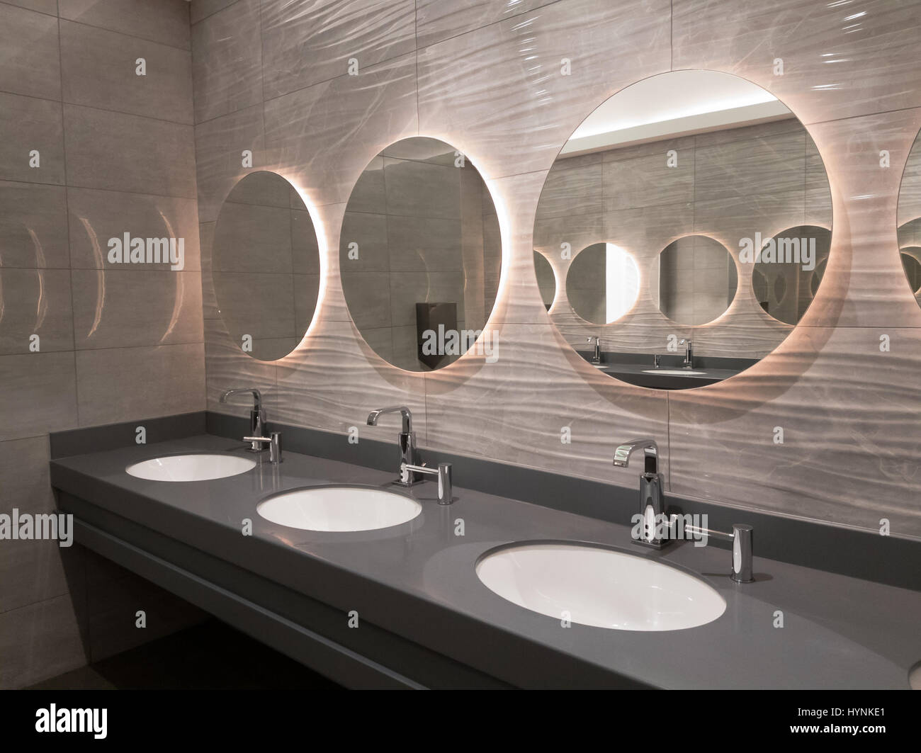 . Modern public washroom interior Stock Photo  137544569   Alamy
