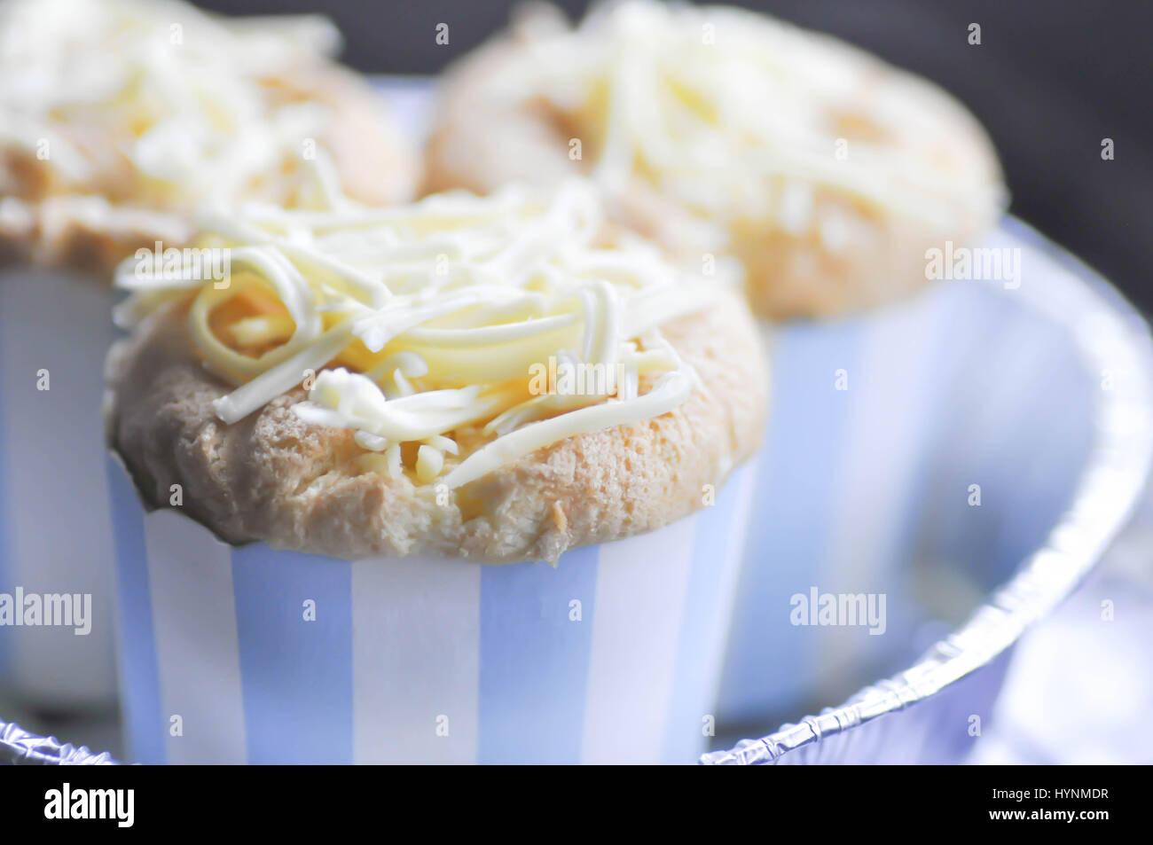 mamon or filipino sponge cake or cup cake - Stock Image