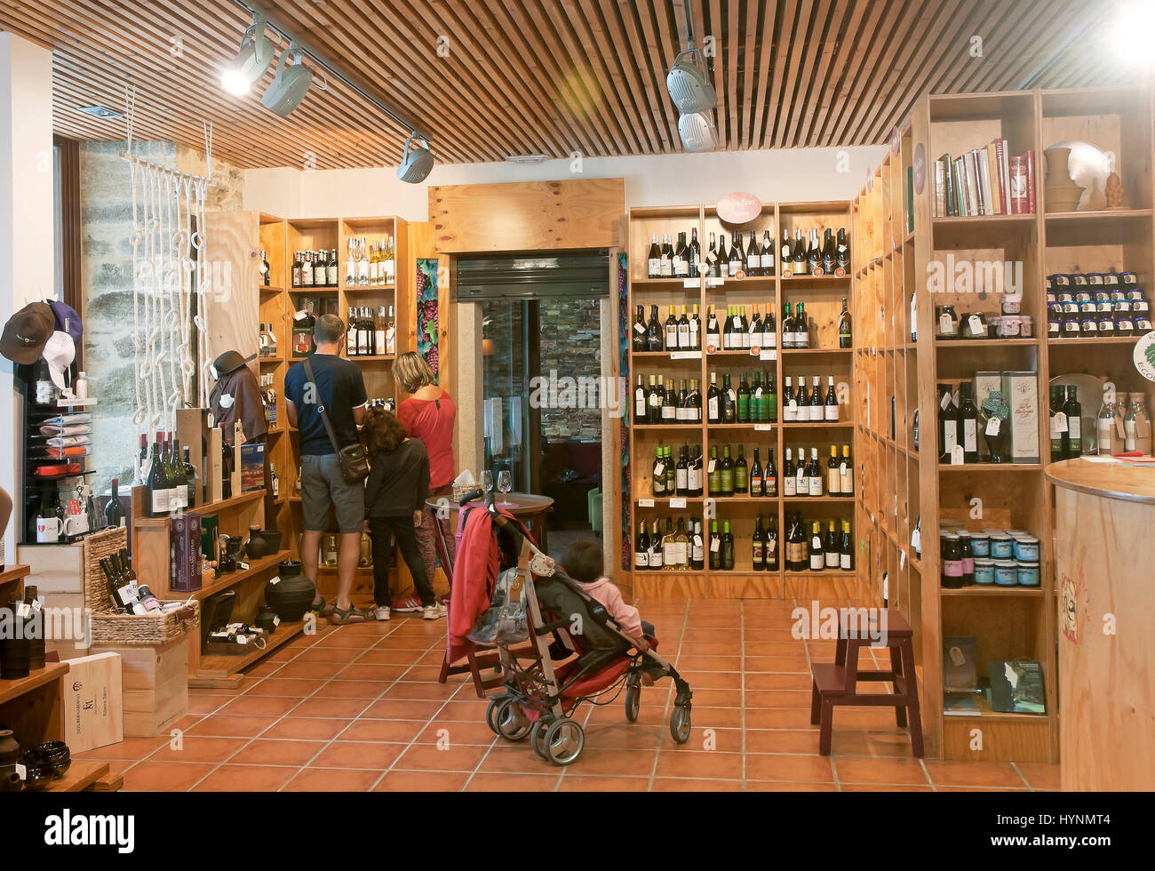 Wine center - Ribeira Sacra, Monforte de Lemos, Lugo province, Region of Galicia, Spain, Europe Stock Photo