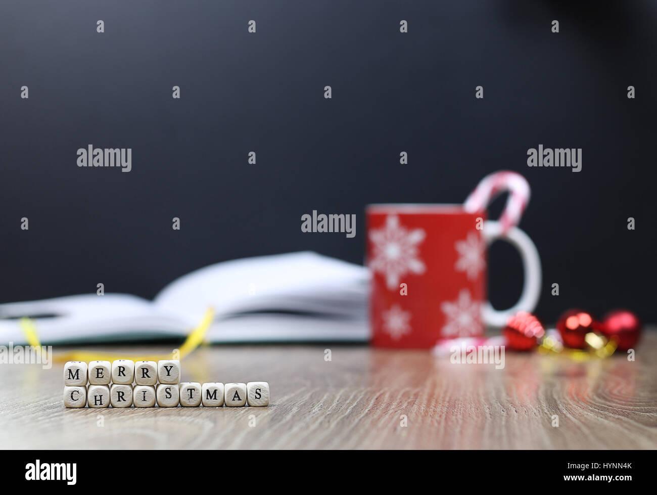 christmas letter man smile - Stock Image