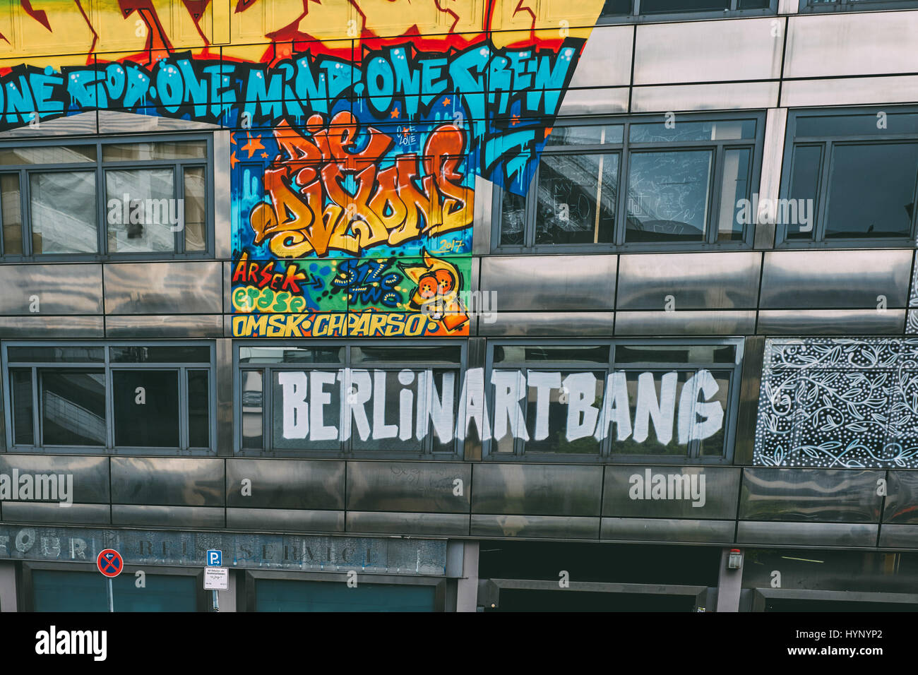 Berlin, Germany. 05th Apr, 2017. pop up gallery 'The Haus' Berlin Art Bang, on April 5, 2017. Photo: picture - Stock Image