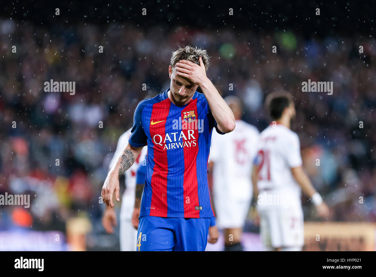 April 5, 2017: Ivan Rakitic during the match between FC Barcelona vs Sevilla, for the round 30 of the Liga Santander, - Stock Image