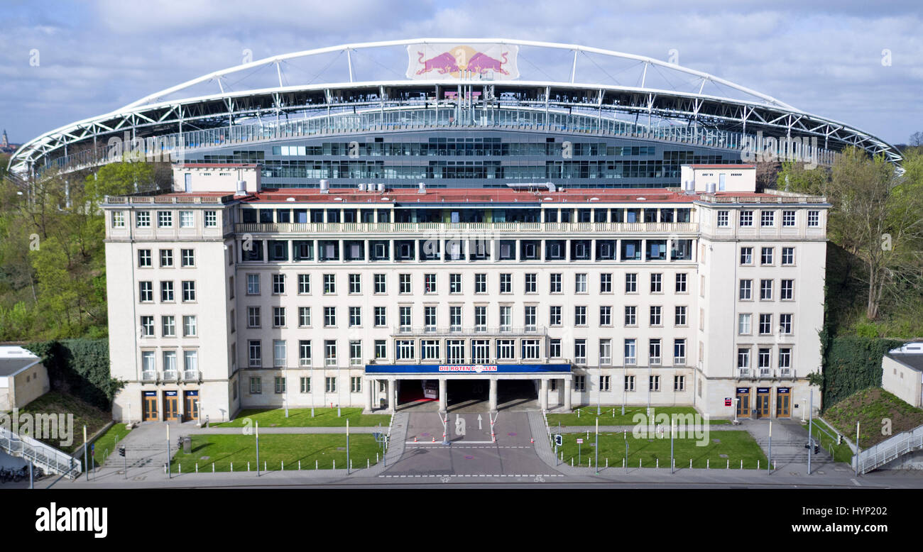 View Of The Red Bull Arena The Stadium Of Rb Leipzig In Leipzig Stock Photo Alamy