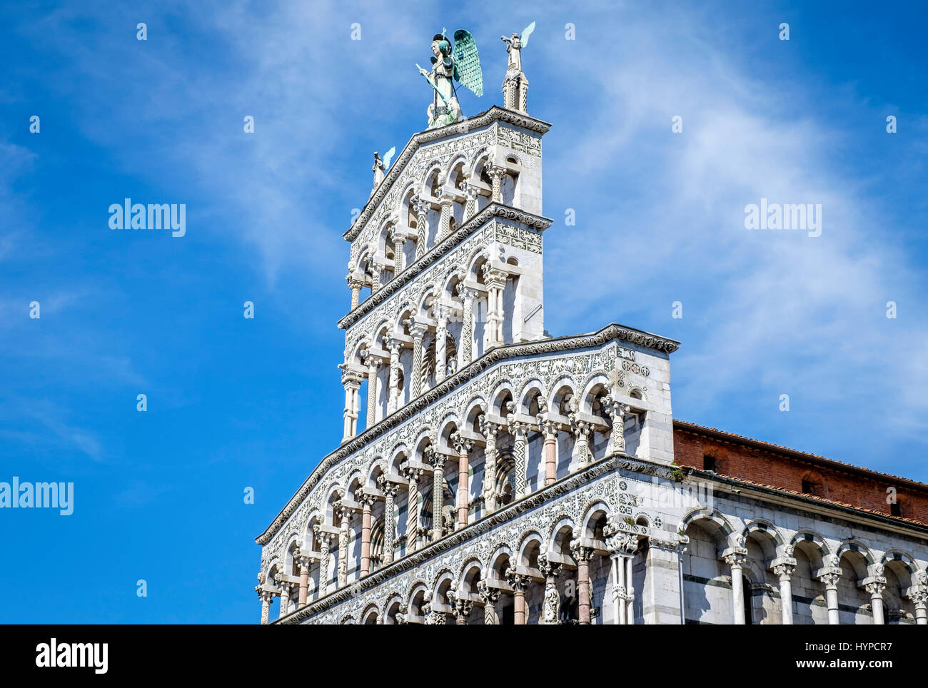 LUCCA ITALY - CIRCA MAY 2015:  Church San Michele in Foro  in Lucca - Stock Image