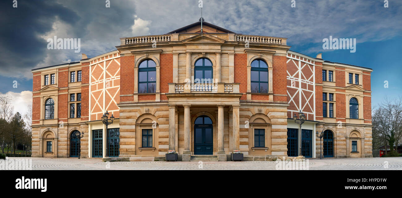 Bayreuth Wagner Festival Theatre - Stock Image