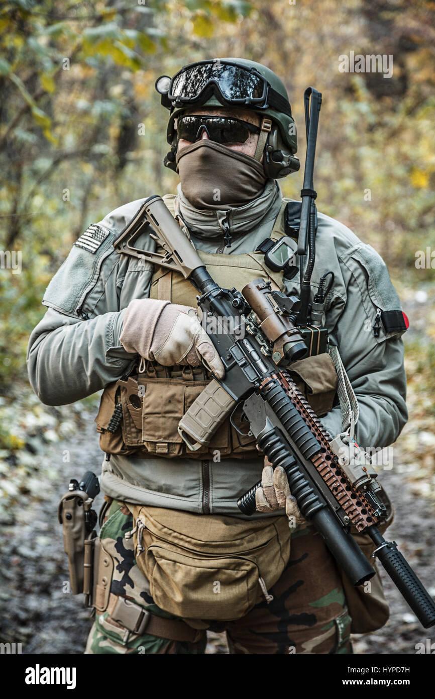 Marsoc Raider Aiming Weapons Stock Photo 137561637 Alamy