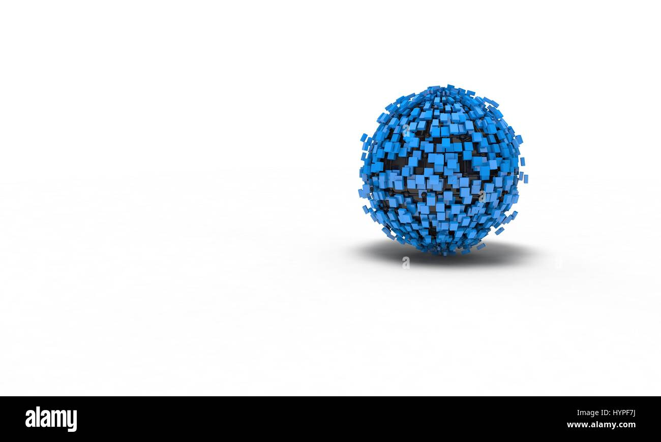 Background of the abstract sphere, 3d render working - Stock Image
