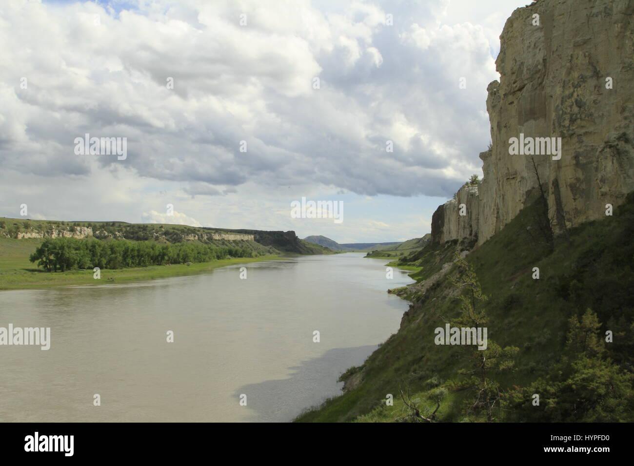 White Cliffs Region of the Missouri River Breaks National Monument, Montana, USA - Stock Image