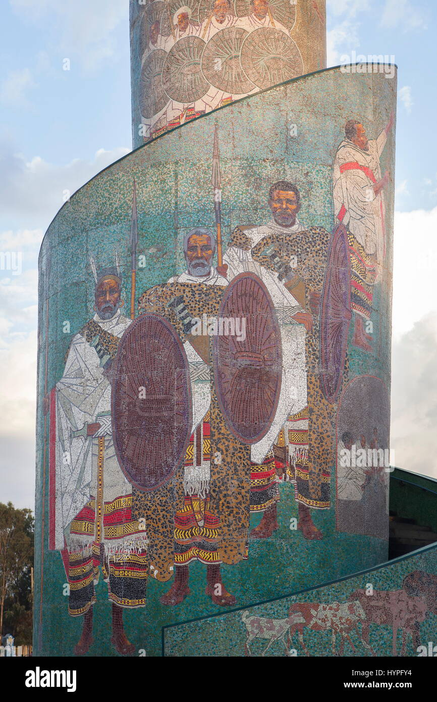Ethiopia, Detail of the famous traffic circle of Awasa situated in front of the church holy Gabriel in Awassa - Stock Image