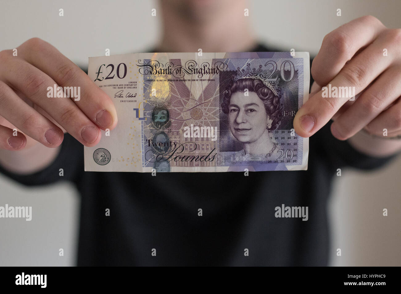 UNITED KINGDON, WALES. April 4 2017. The bank of England considers palm oil for £20 polymer notes instead of - Stock Image