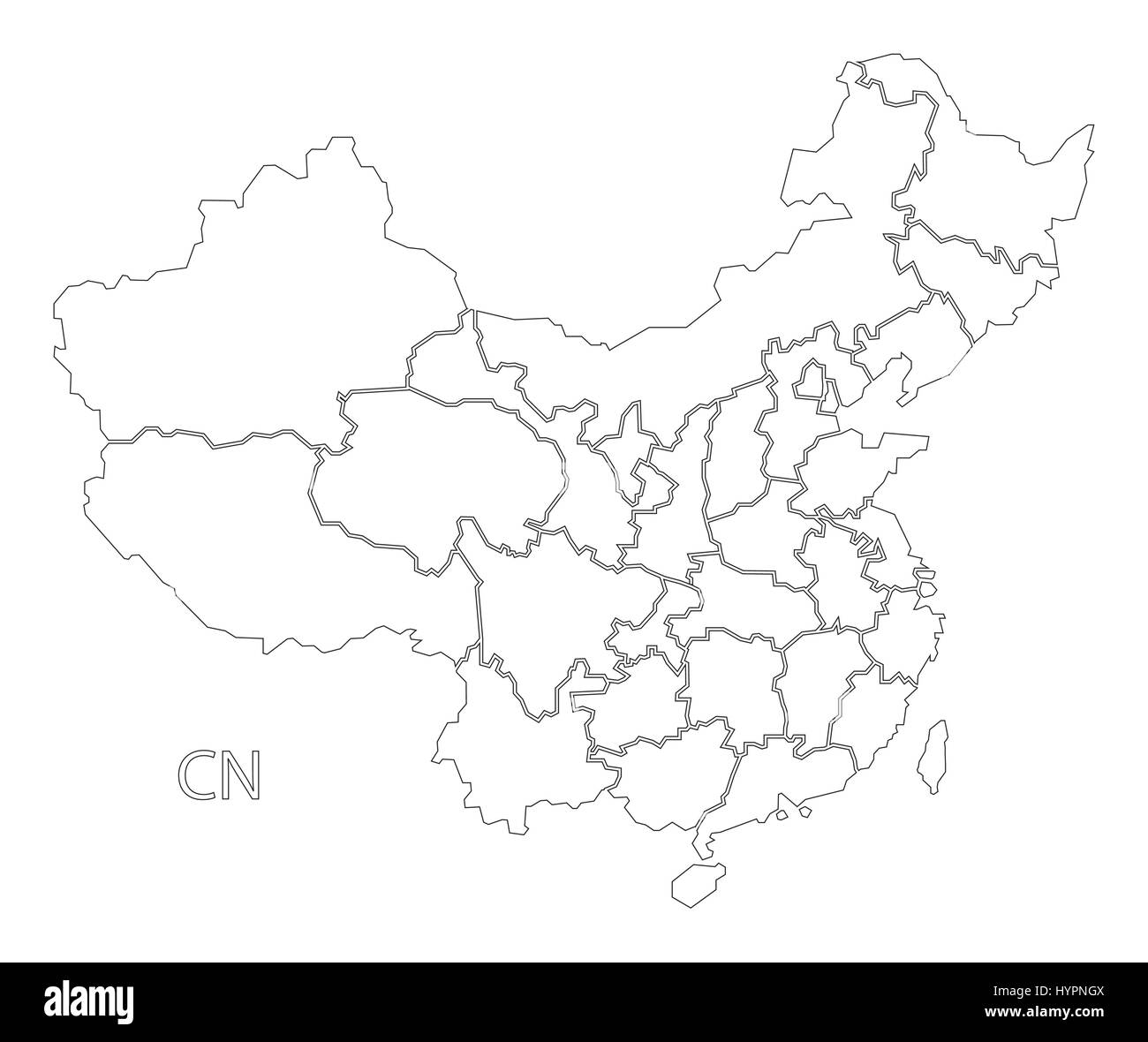 Blank Map Of China Provinces.Map China Provinces Stock Photos Map China Provinces Stock Images